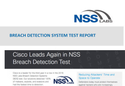 Cisco AMP Excels in NSS Breach Detection Test